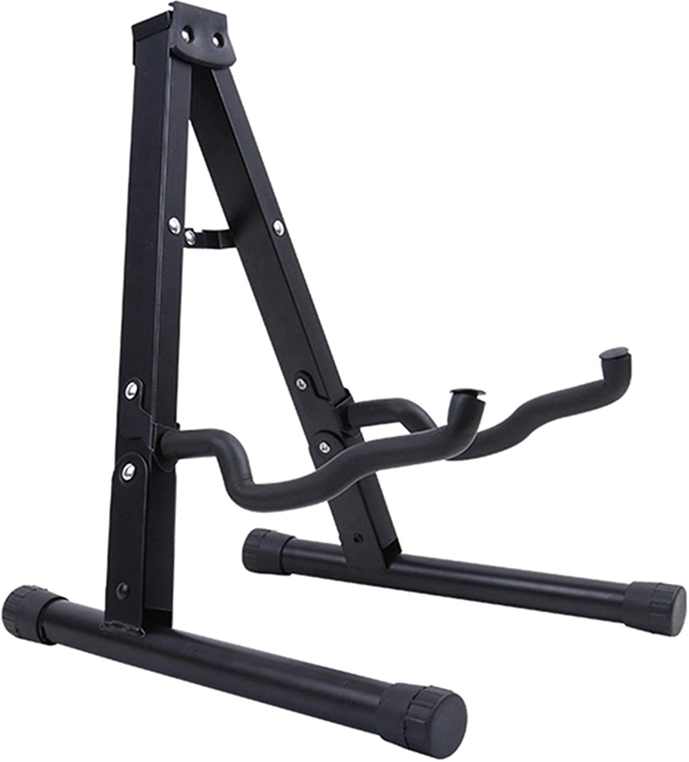 Guitar Stand Folding Universal A frame Stand Floor for All Guitars Acoustic Classic Electric Bass Travel Guitar Stand - Black