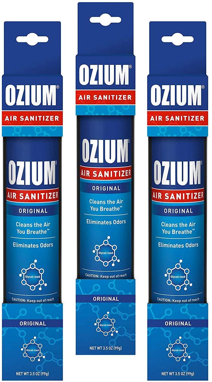 Ozium Air Sanitizer 3.5 oz Spray, Original (3)