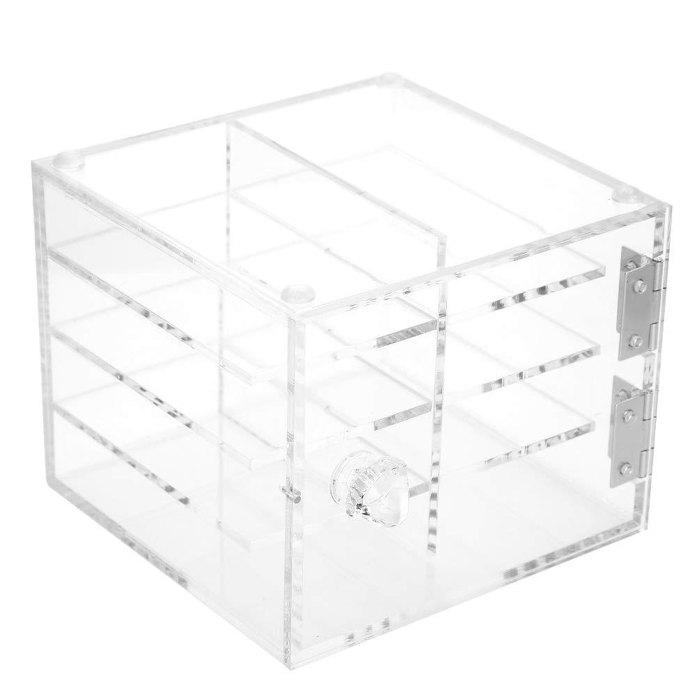 Clear Acrylic False Eyelash Organizer - Eyelash Storage Box,8 Layers False Eyelash Extension Carrying Box,Cosmetic Case Durable Makeup Box,Eyelash Grafting Extension Tool Supplies