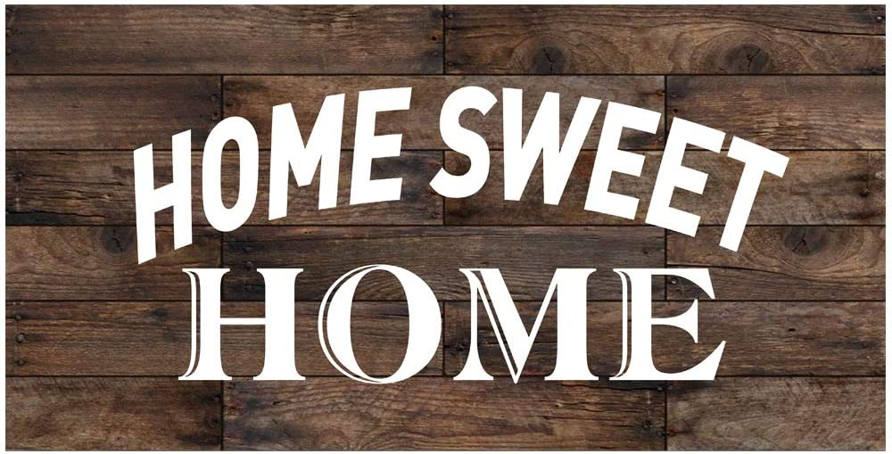 Original Retro Design Home Sweet Home Tin Metal Signs Wall Art, Thick Tinplate Print Poster Wall Decoration