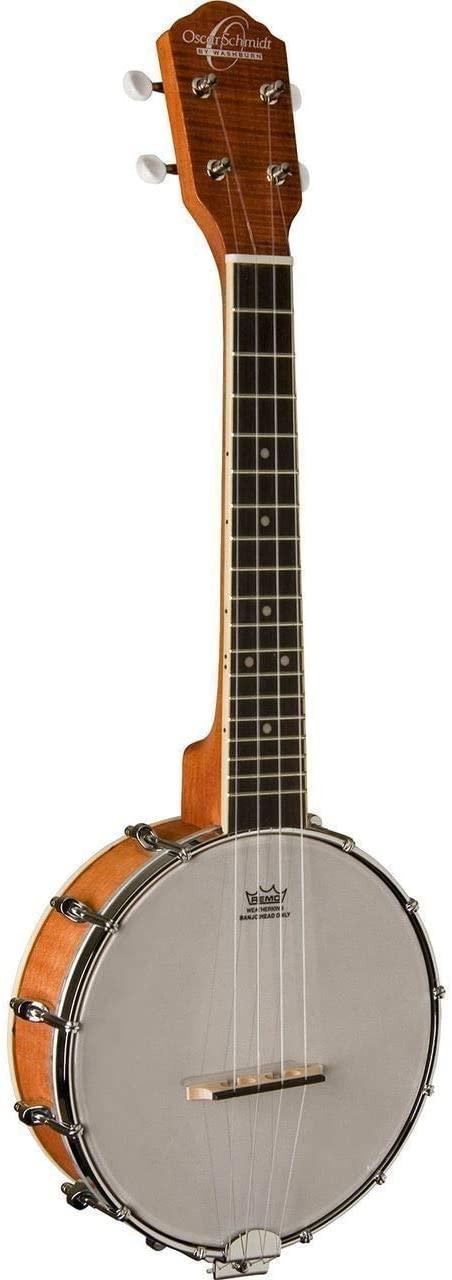 Oscar Schmidt OUB1 Banjo Ukulele with Polishing Cloth