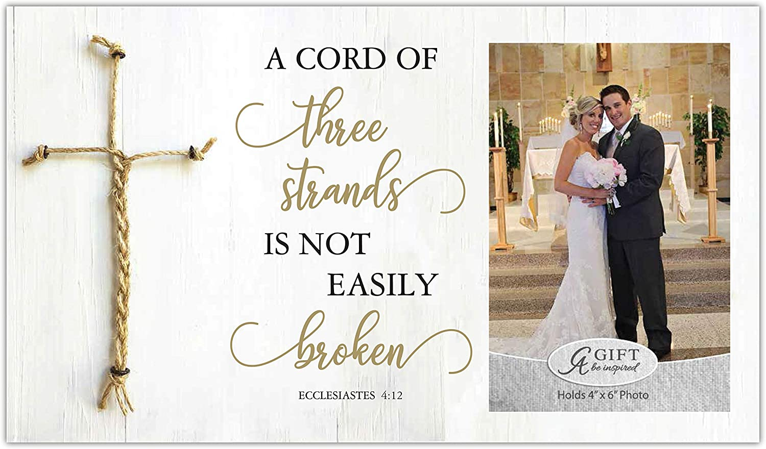 Cathedral Art Marriage Picture Frame - A Cord of Three Strands, One Size, Multicolored