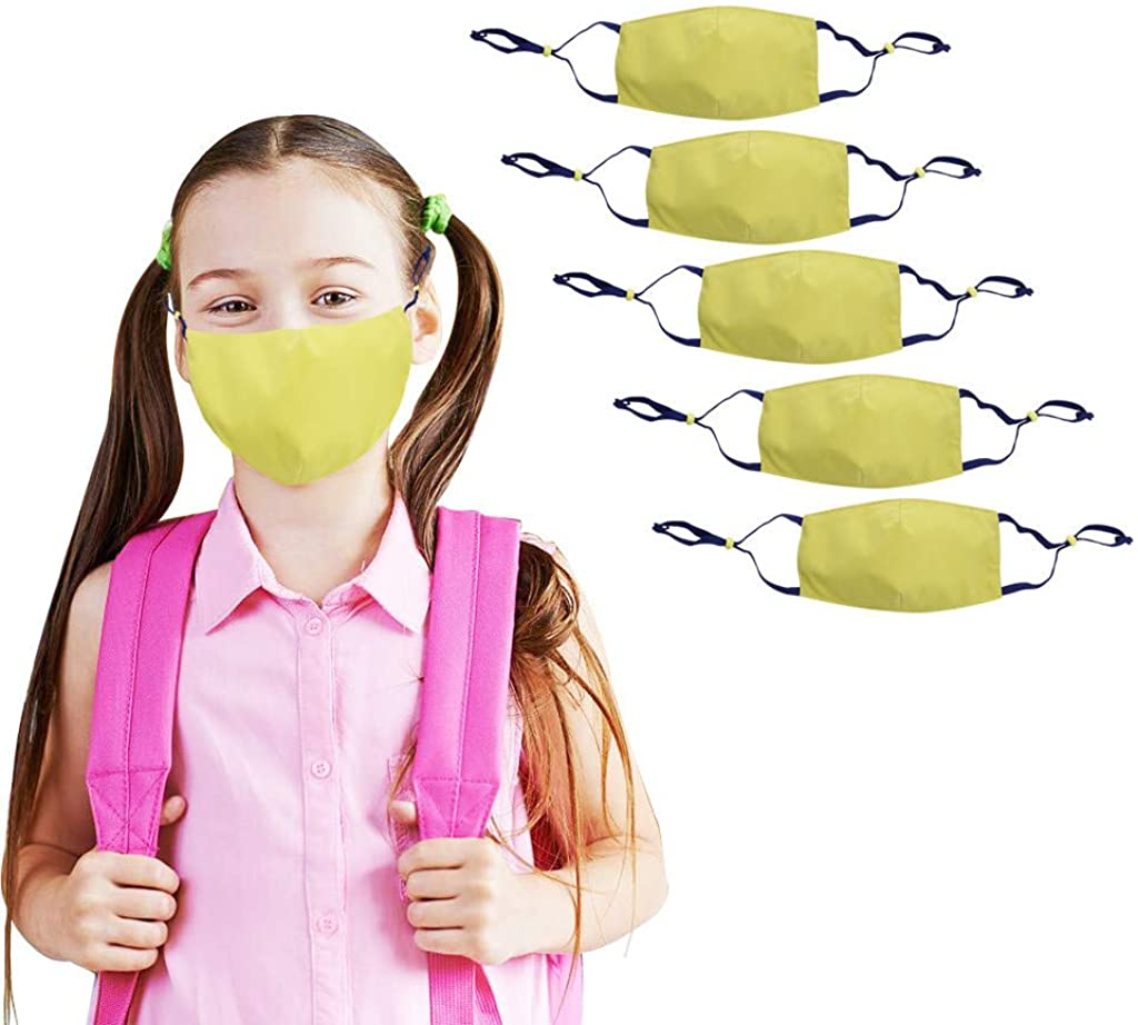 5PCS Fashion Cloth Face_Mask Breathable Kids Reusable Adjustable Cycling Mouth Washable Windproof Bandanas For Student
