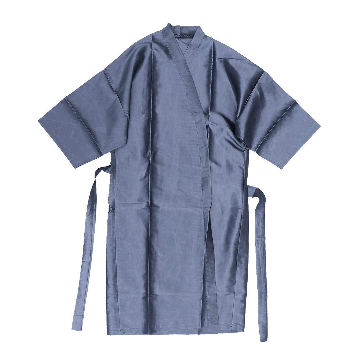 Frcolor Salon Client Gowns Kimono Style Grooming Hair Salon Smock for Clients Barbers (Silver)