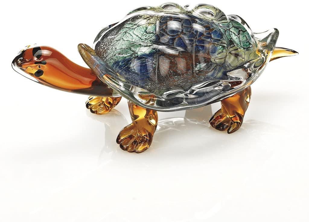 Badash - Firestorm Art Glass Turtle L12x6x5 inch