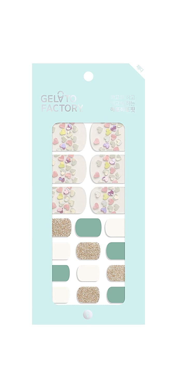 Gel Nail Strip [Pistachio Candy] by Gelato Factory - Gloss Wraps Polish Sticker Palette