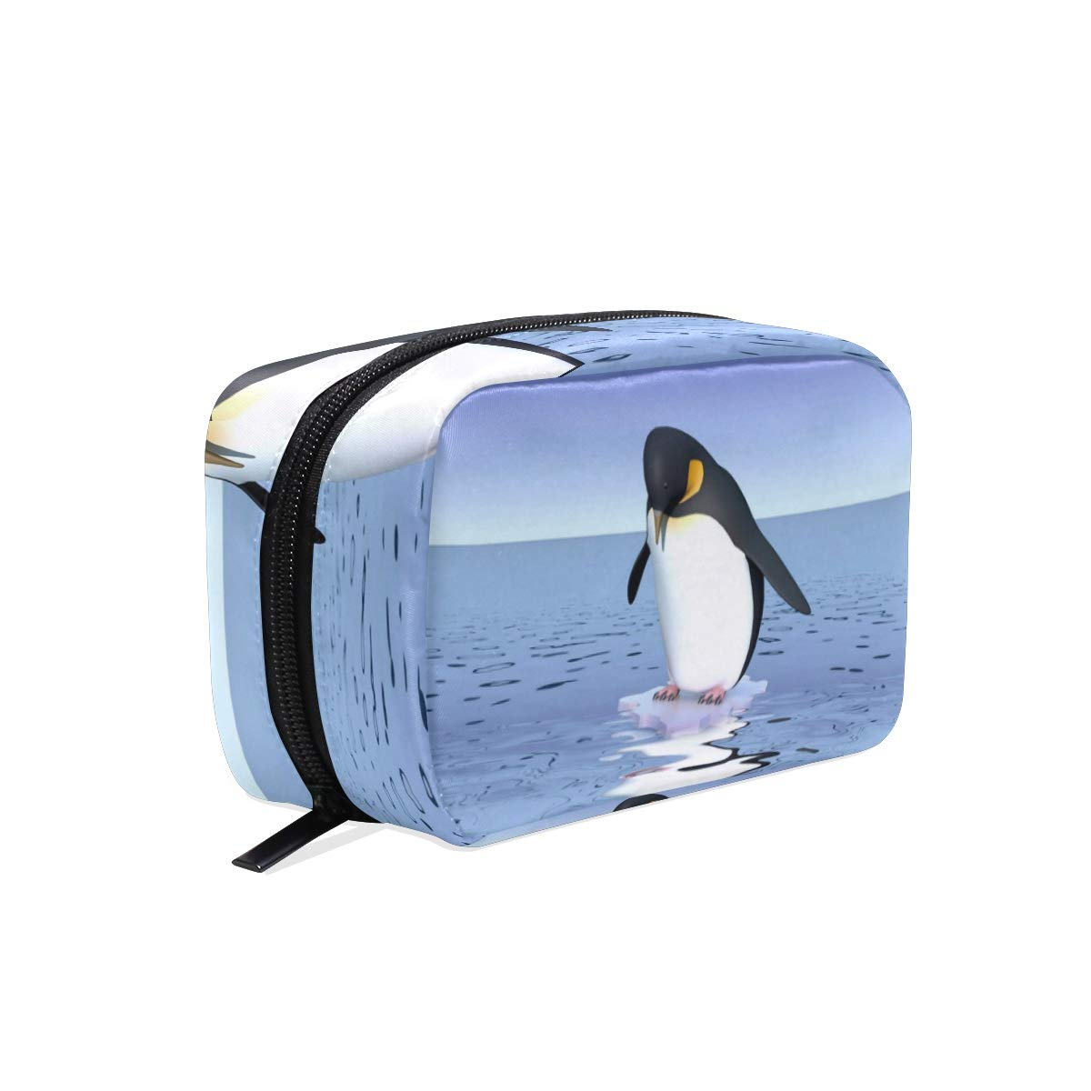 Penguins Makeup Bag Multi Compartment Pouch Storage Cosmetic Bags for Women Travel