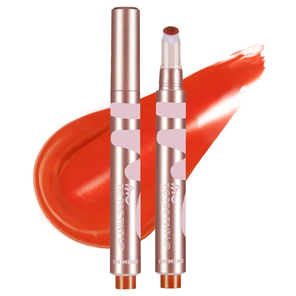 IM MEME IM Tictoc Tint Lip Velvet   Velvet-Matte Lip Stain   002 Lively Orange   K-Beauty
