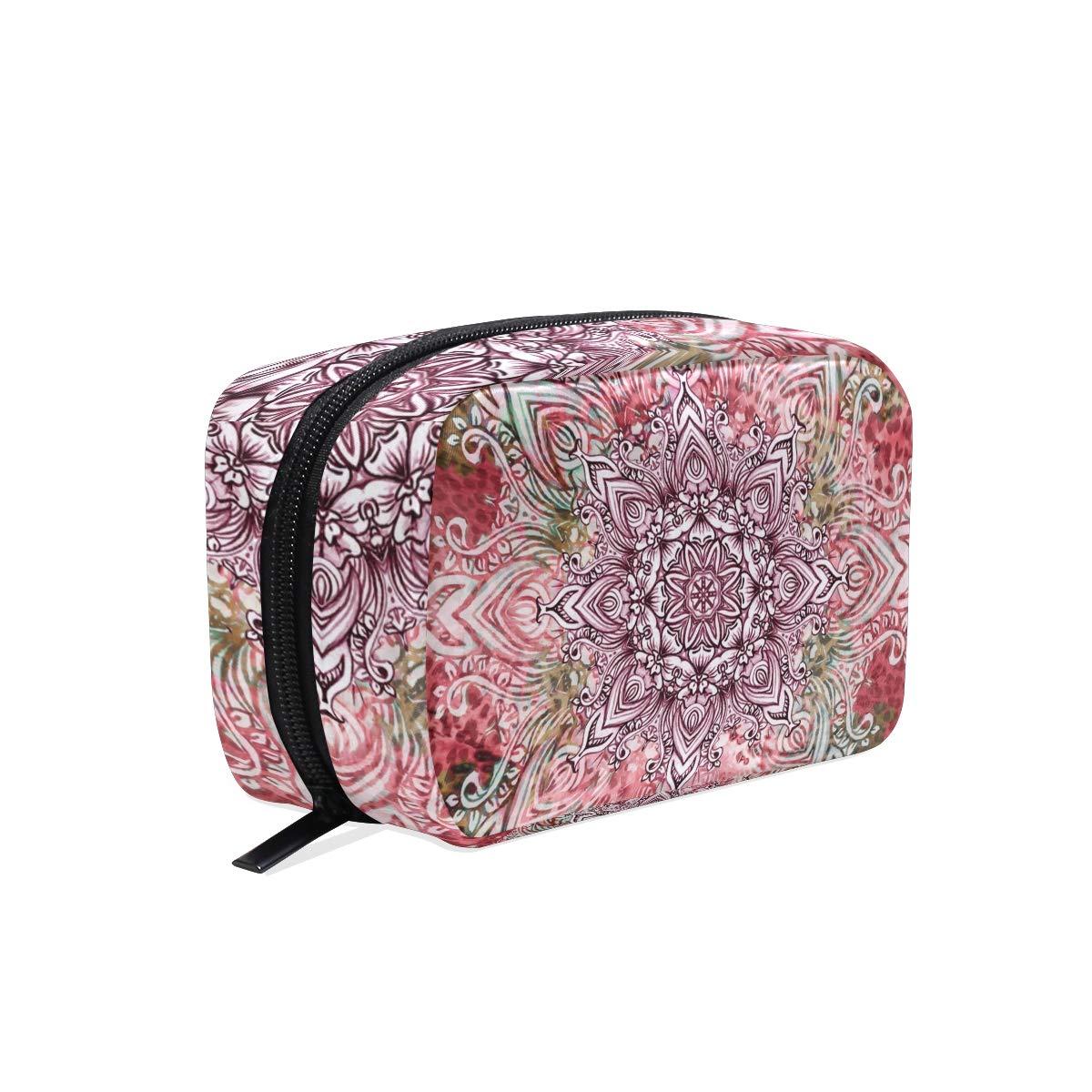 Travel Cosmetic Bag Leopard Makeup Bag Zipper Storage Bag Portable for Ladies women's Travel Square Makeup Brushes Bag