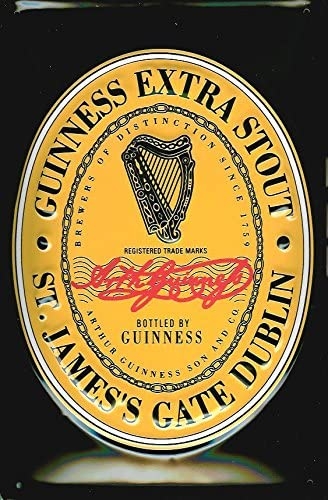 Guinness English Label Wall Art