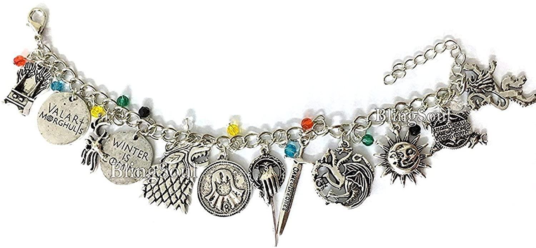 Game Charm Bracelet - Thrones Costume Jewelry Merchandise Christmas Gift for Women