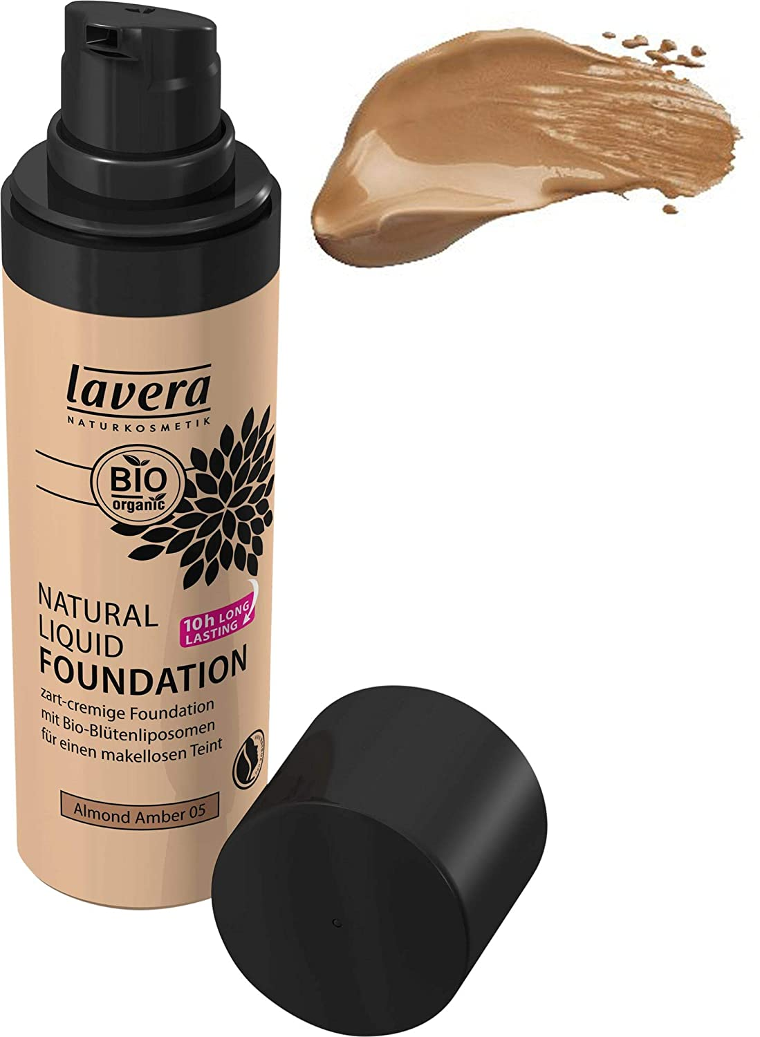 Lavera Natural Liquid Foundation Makeup - for Dark Skin Tone, Pack of 3 (3 X 1 Ounce)