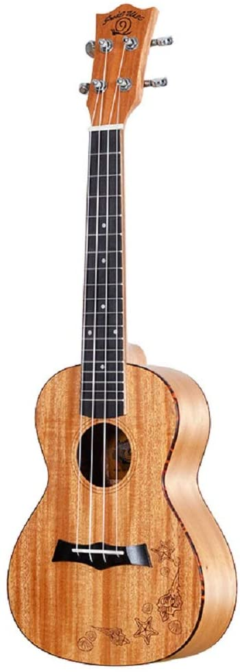 Snail Concert Ukulele Mahogany 23 inch Vintage Professional Wooden with Starter Kit (Gig Bag strap and Picks) for Beginner and Student (23inch)