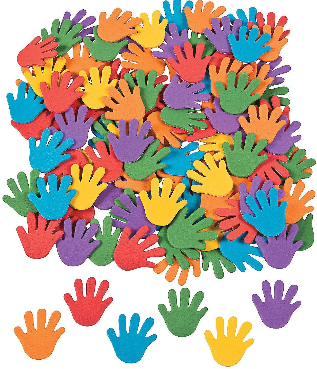 Rainbow Hand Adhesive Foam Shapes - Crafts for Kids and Fun Home Activities