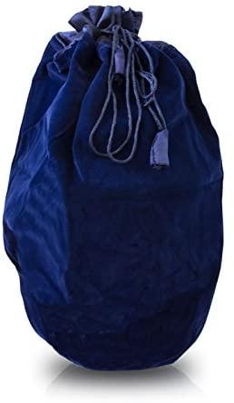 OneWorld Memorials Urn Bag Velvet Velvet Cremains Bag - Large Sapphire Blue Drawstring Velvet Bag