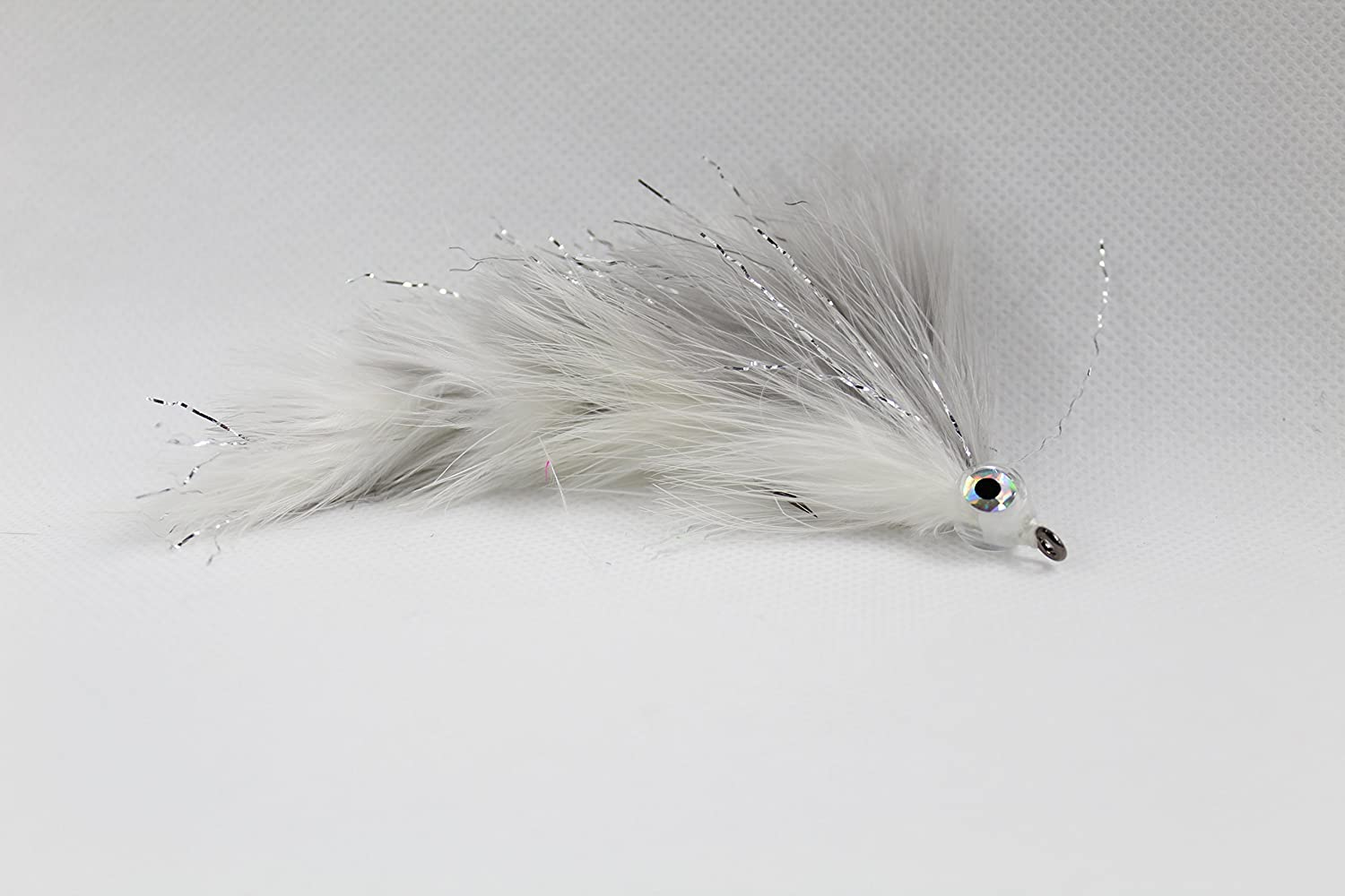 Gray Shad Marabou Game Changer Jointed Bass Trout Muskie Pike Fly 4