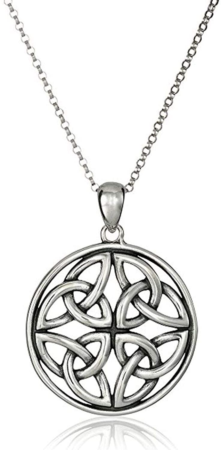 Sterling Silver Dara Celtic Knot Necklace Continuity of Life Jewelry Women Girls Anniversary Birthday Mothers Gift