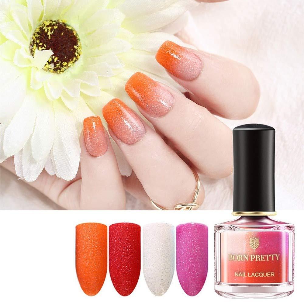 Thermal Nail Polish Temperature Color Changing Nail Art Varnish DIY Manicuring Supplies (BP-CE04)