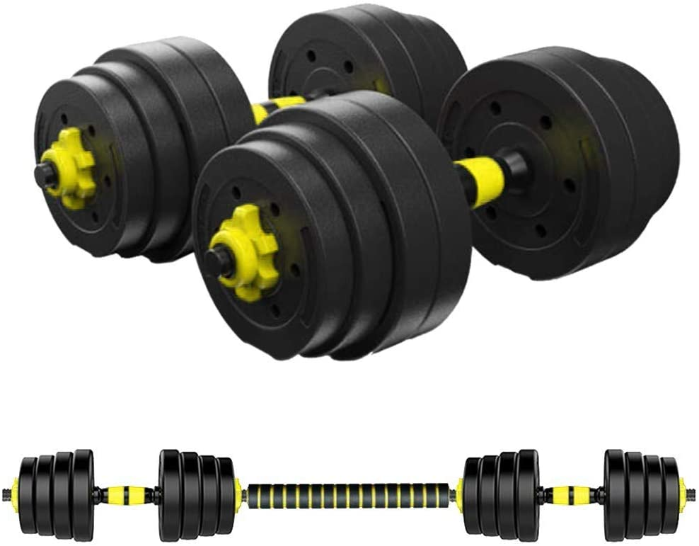GBSELL Weights Dumbbells Set with Connecting Rod, 88.18lb Non-Slip Barbell Weights Set for Home Gym, Strength Training Weights Set, Fitness Exercise Training Equipment for Gym Work Out