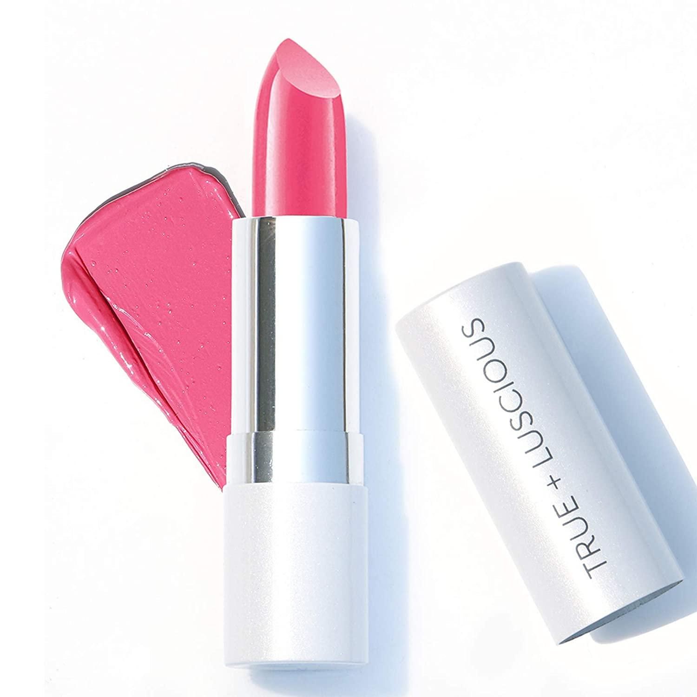 True + Luscious Super Moisture Lipstick - Vegan and Cruelty Free, Non Toxic Formula - 0.12oz, Shade: Candy Pink