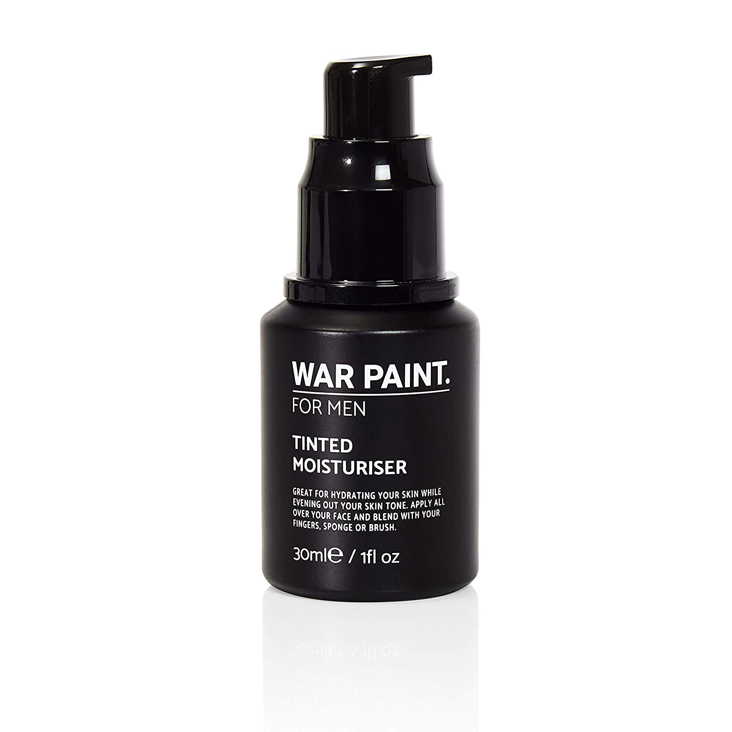 War Paint Men's Tinted Moisturiser - (Shade Light) - 5 Shades available - Makeup Crafted For Men - Cruelty Free Vegan Products - Perfect Tone - Made in The UK