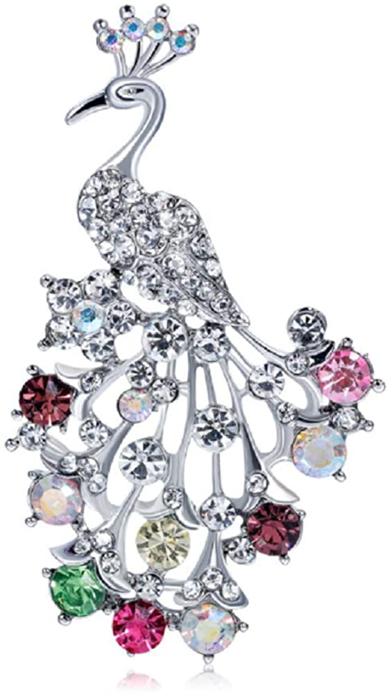 YFan Fashion Animal Brooch Pins Rhinestone Women Jewelry Accessories