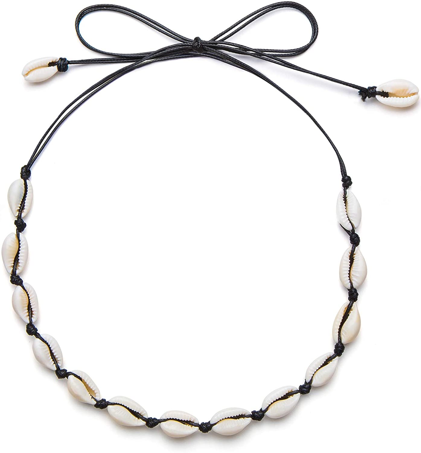 Qceasiy Seashell Necklace Choker for Women Summer Hawaiian Style Natural Shell Necklace