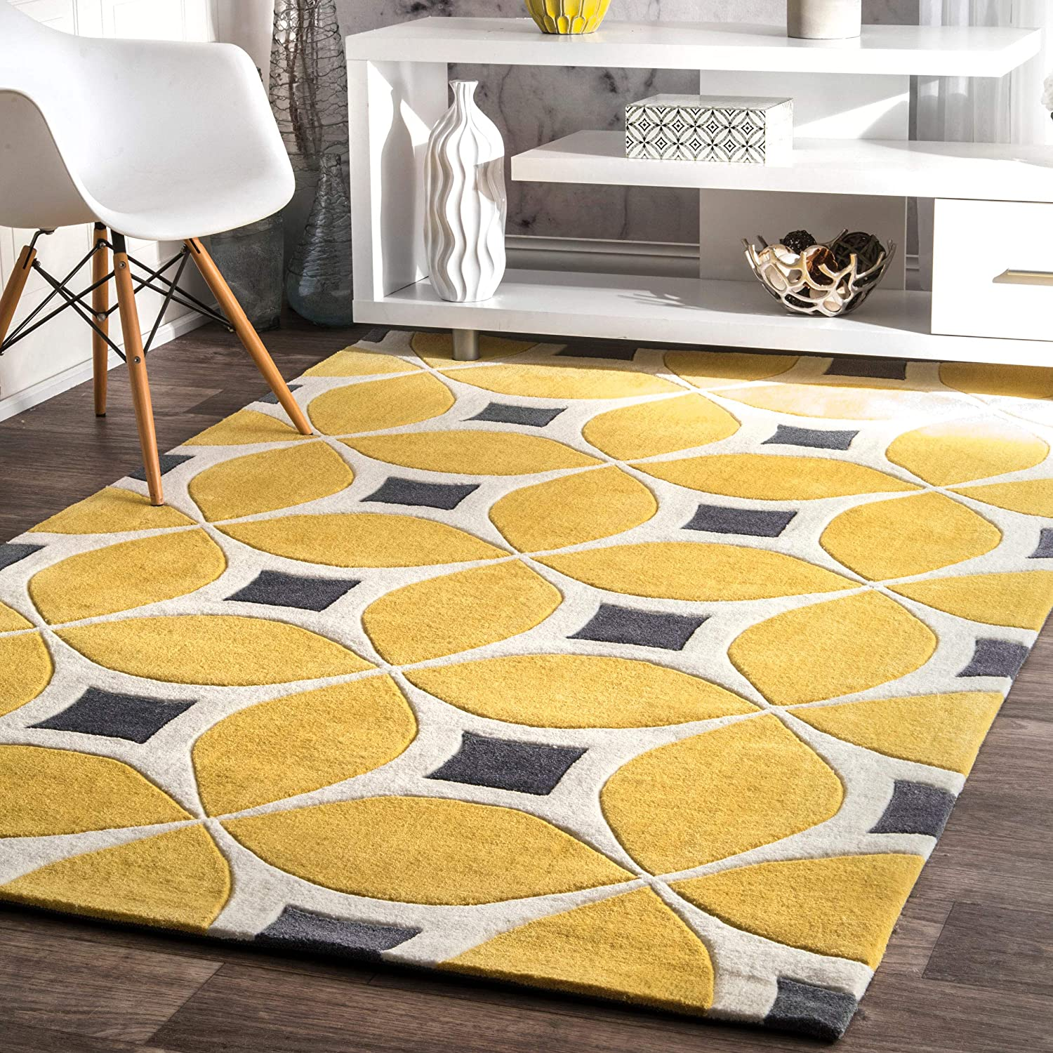 nuLOOM Gabriela Contemporary Area Rug, 6' x 9', Sunflower