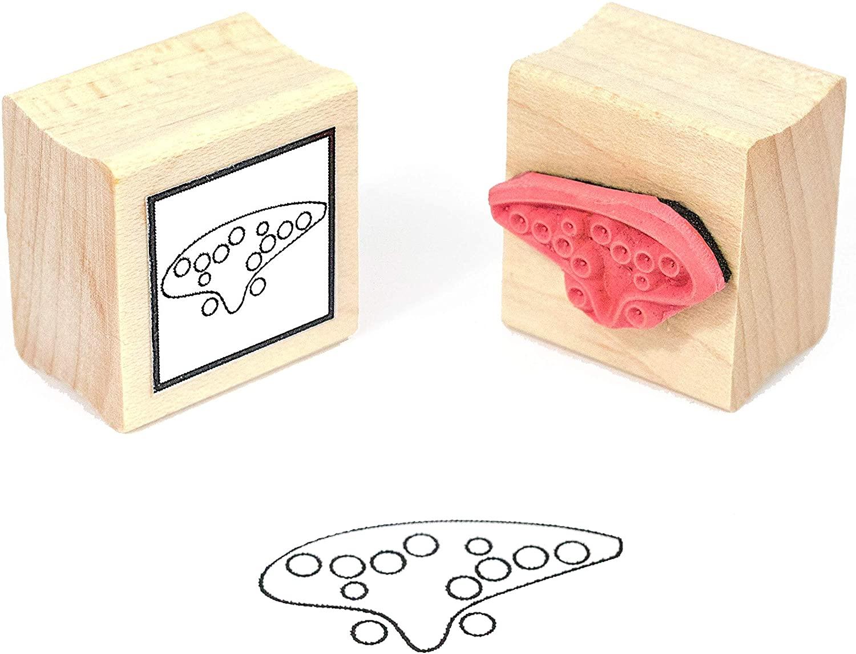 Ocarina Fingering Rubber Stamp