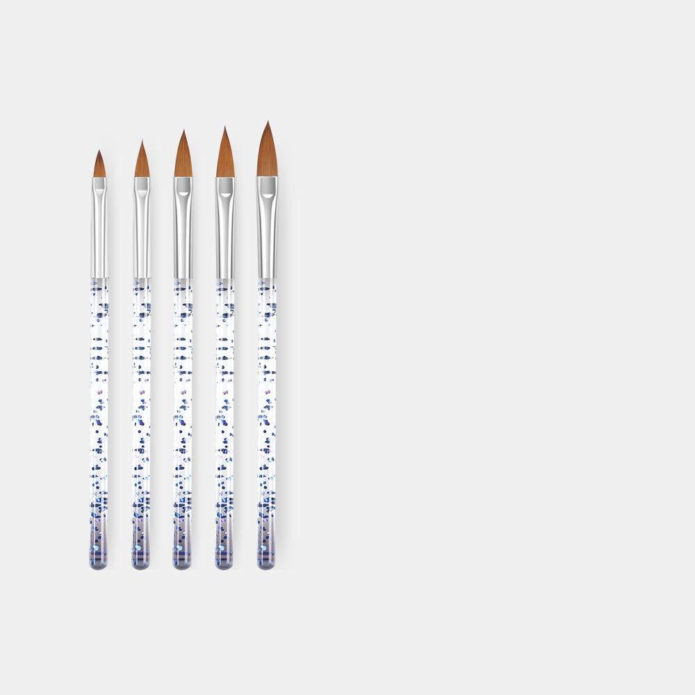 Beauty Supply Acrylic Nail Art Gel Brushes Pen Tools Set 5Pcs/ Set (E)