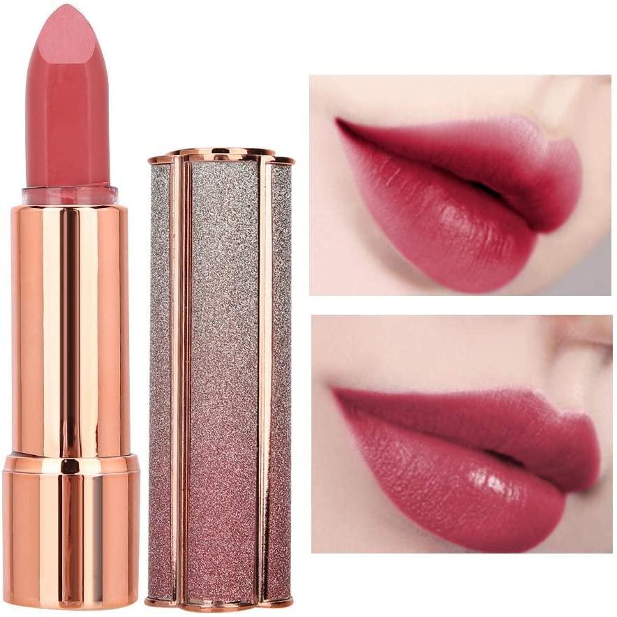 Zetiling Moisturizing Lipstick, Waterproof Long-Lasting Lip Gloss Shine Lipsticks Nourishing Lipsticks Balm Lip Makeup Cosmetic (Optional Color)(02#)