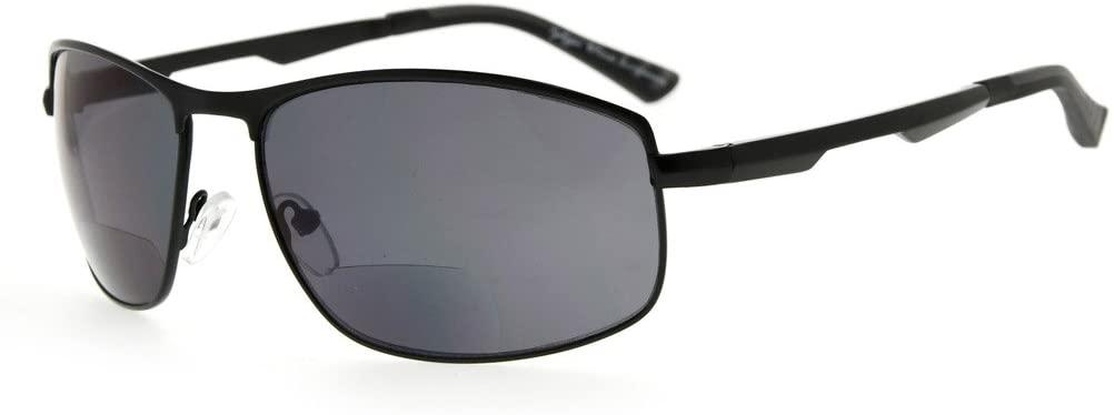 Eyekepper Bifocal Sunglasses Bifocal Sunshine Readers Outdoor Reading Glasses (Black, 1.50)