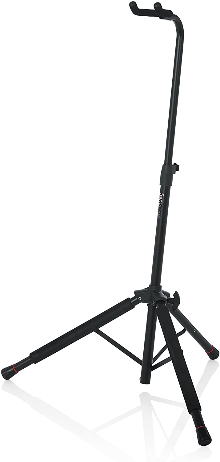 Gator Frameworks Hanging Single Guitar Stand; Holds Electric or Acoustic Guitars (GFW-GTR-1200)