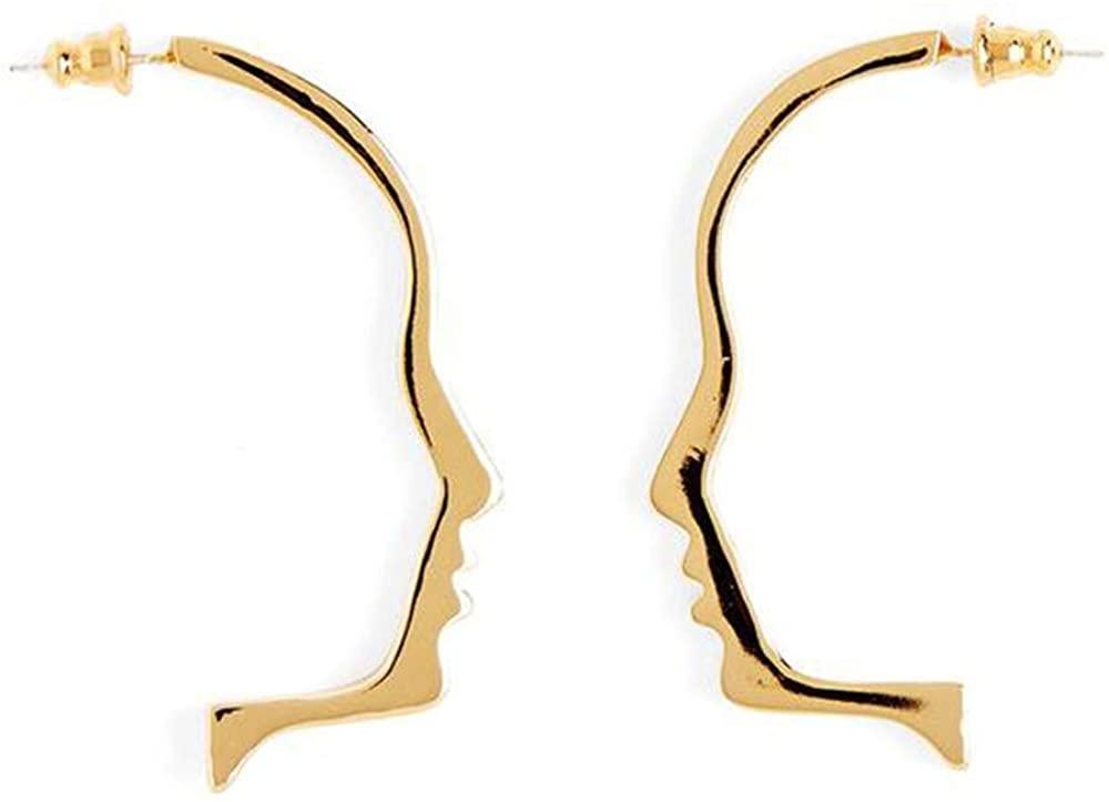 Face Shape Earrings Dangle Stud Earrings for Women Teen - Abstract Geometric Aesthetic Earrings