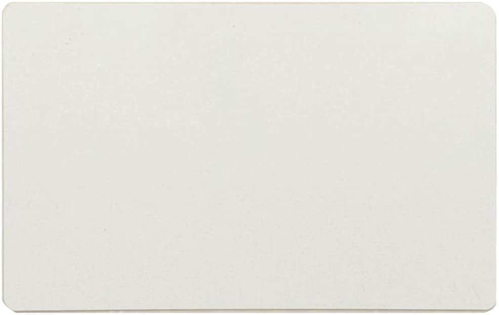 Ebamaz Metal Business Cards Tablet Thick 86X54mm Pack of 10PCS (Aluminum 0.45mm Thickness, Pearled White, Blank)