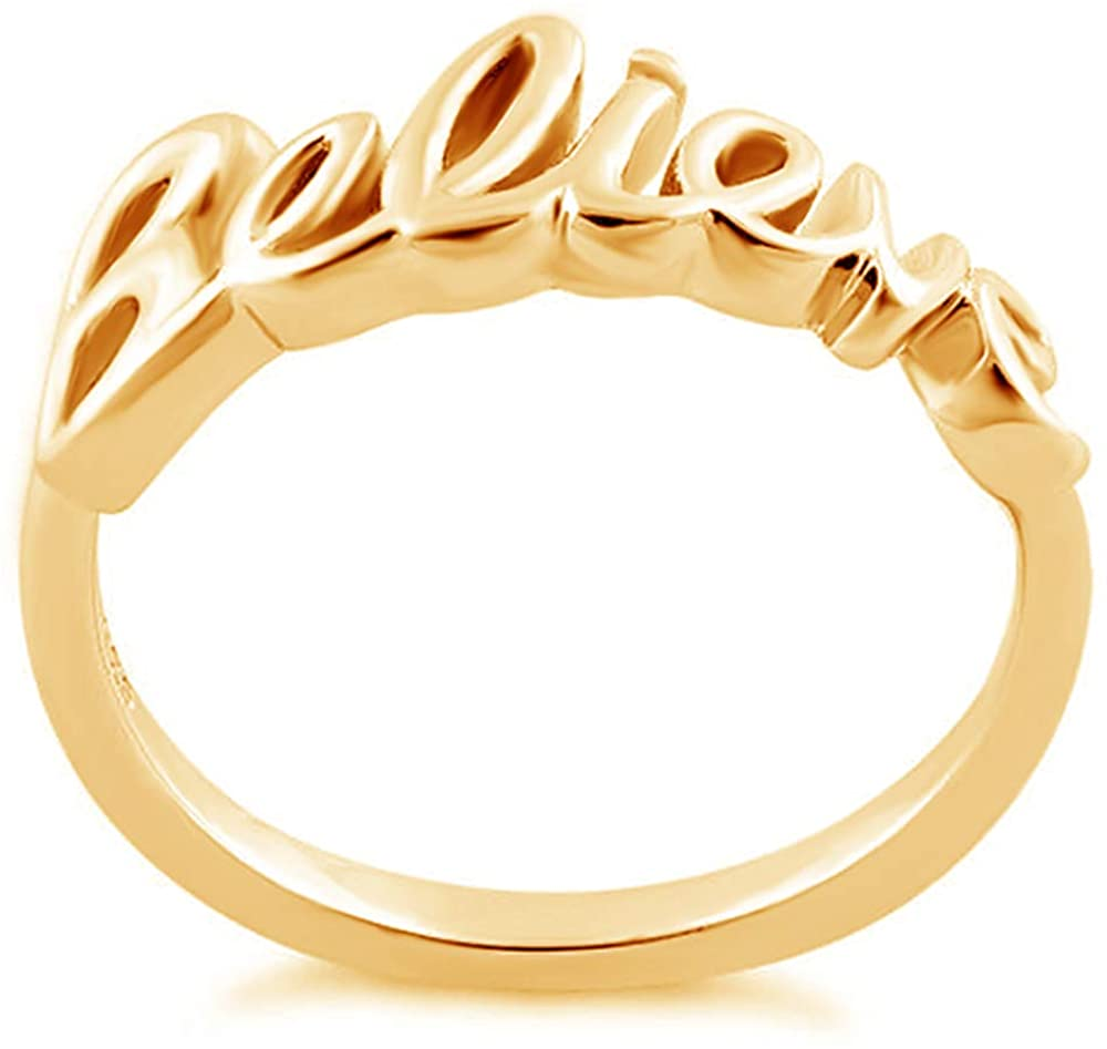 BINKILA Custom Name Ring Personalized S925 Sterling Silver Ring Initial Ring for Her