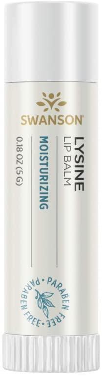 Swanson Lysine Lip Balm 0.18 Ounce (5 g) Balm