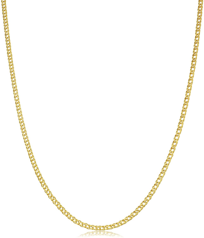 Kooljewelry 14k Yellow Gold 2 mm Diamond Weave Chain Necklace (18, 20, 22, 24, 26, 30 or 36 inch)