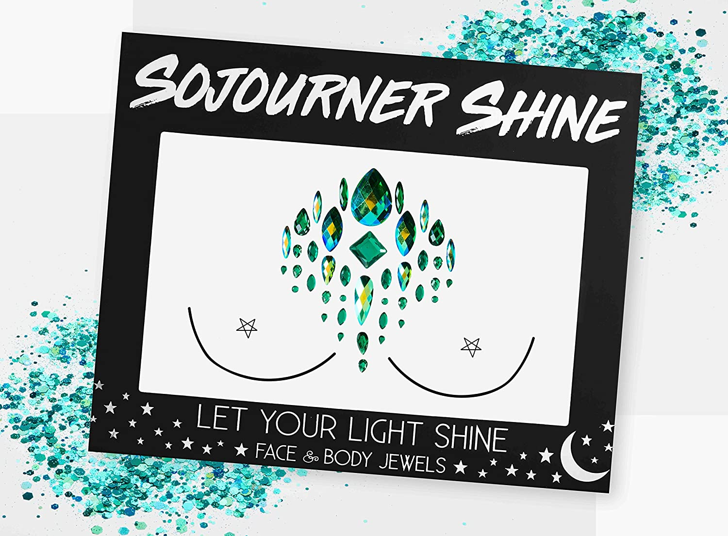 Face Jewels Glitter Gems Rhinestones – Eye Body Jewels Gems   Rhinestone Stickers   Body Glitter Festival Rave & Party Accessories by SoJourner (Sea Dragon)
