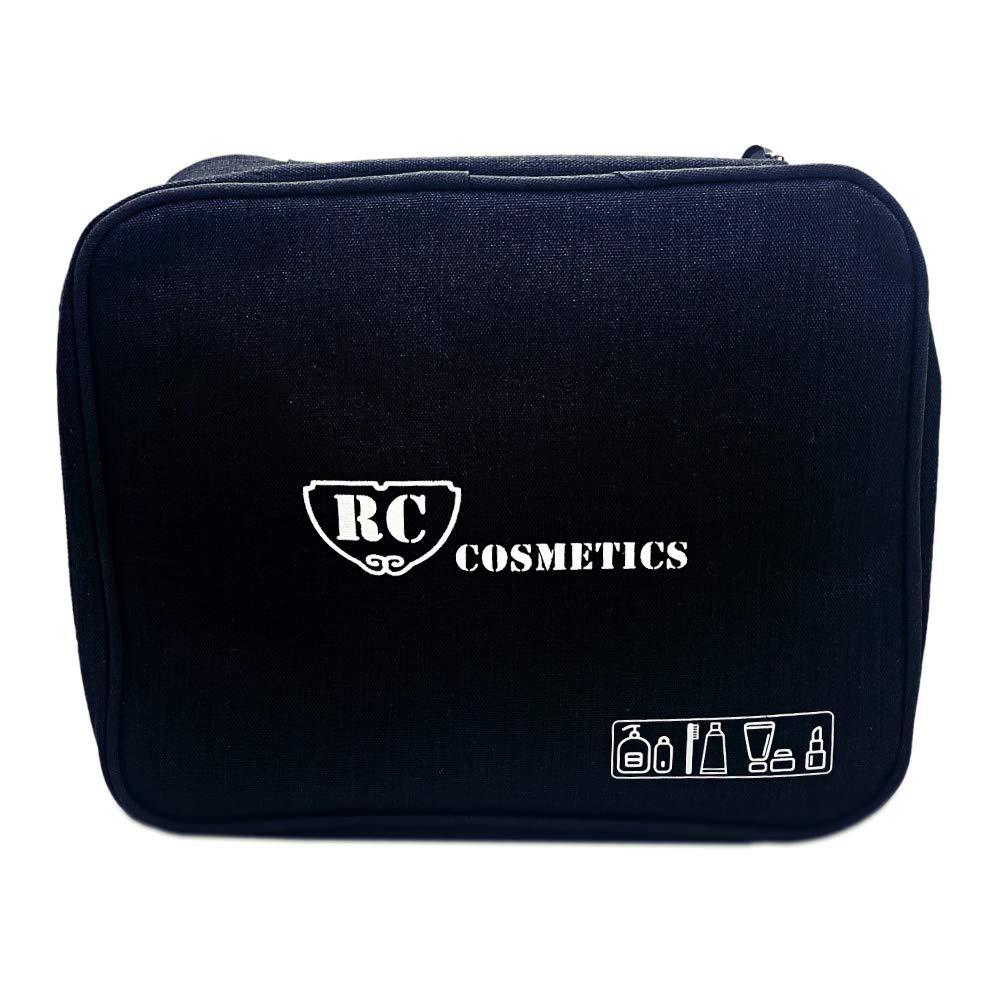 Travel Makeup Bag Large Capacity Portable Makeup Organizer Black from Royal Care Cosmetics