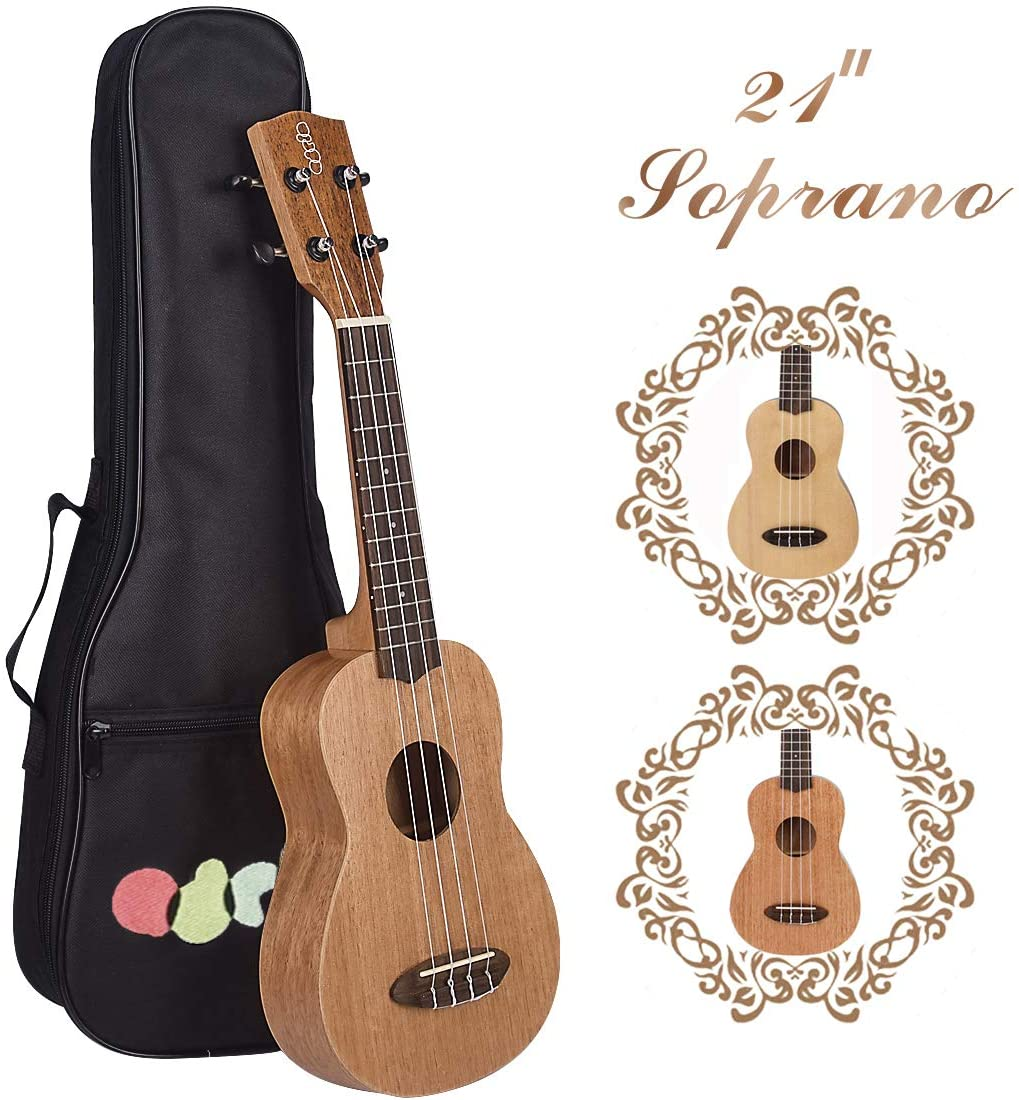 Soprano Ukulele 21 inch Professional Wooden ukulele,Suitable for ukulele Beginner Guitar Starter,Whole mahogany plywood