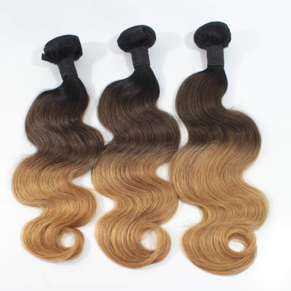 Forawme Cheap Virgin Brazilian Body Wave Ombre Hair Bundles 300g/lot 18 Inch #1B/4/27 Good Quality 8A Soft Hair Weft Products