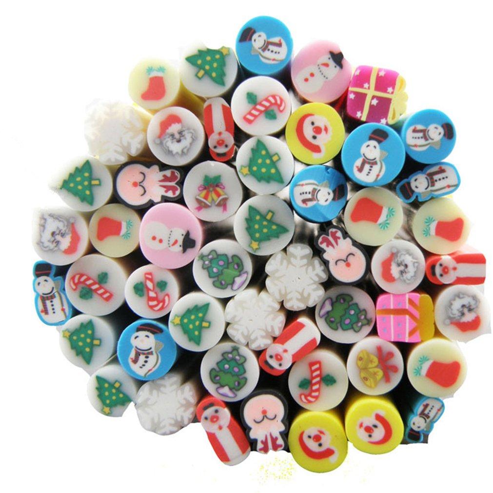 RoseFlower 50 Sticks 3D Nail Art Cute Designs Canes Slices Polymer DIY Decoration Sticker Rods #5