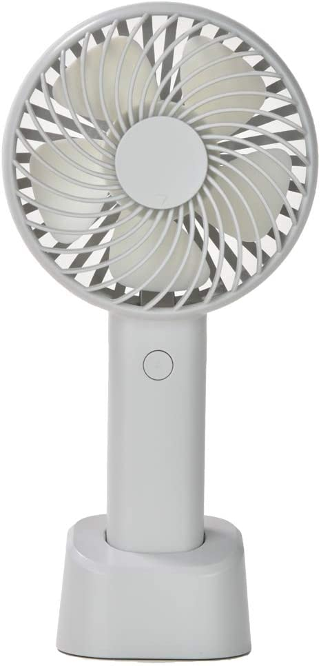 LÄTT LIV Mini Handheld Fan 3 speed handheld fan, It's USB rechargeable,and has a LED battery power indicator little fan,Turbine Mute 5 Turbo Blades/Hand Strap Strong Wind Quiet Optimised have