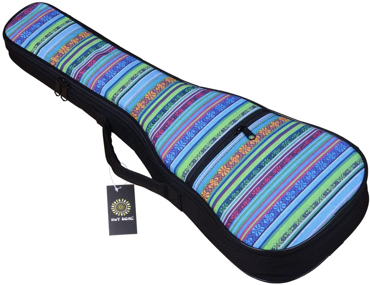 HOT SEAL 10MM Sponge Padding Durable Colorful ukulele Case Bag with Storage (21 in, Bohemia NO.2)