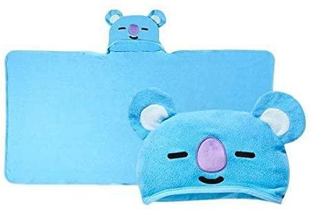 oliveyoung BTS Official Character Hood Towel + Idolpark Gift (KOYA)