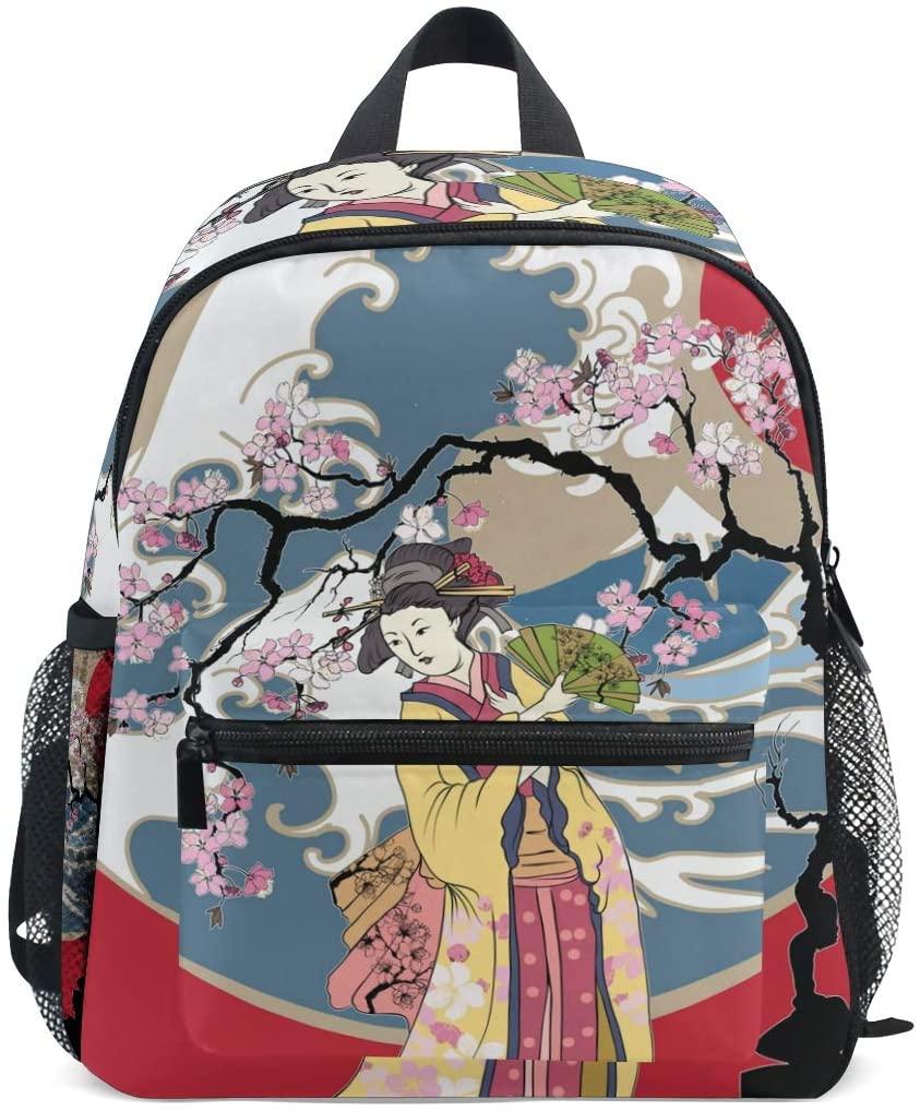 MOFEIYUE Kids Backpack Japanese Women Tree School Bag Kindergarten Toddler Preschool Backpack for Boy Girls Children