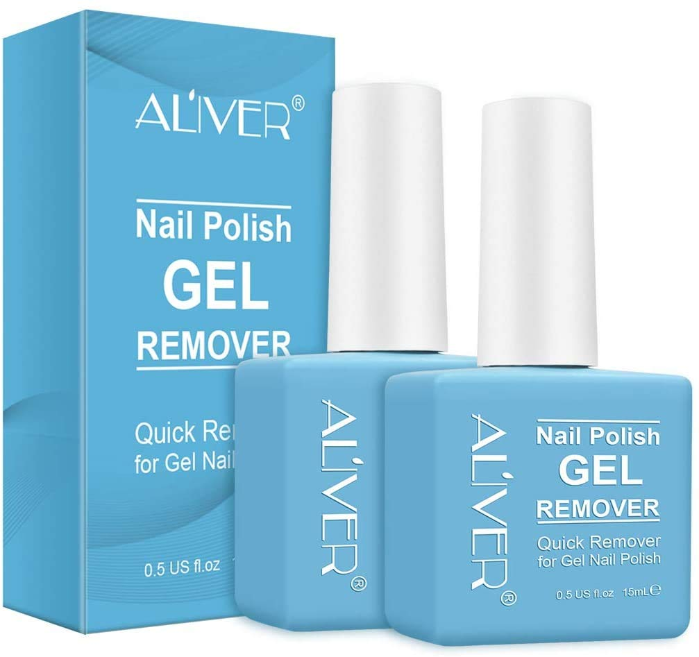 Magic Nail Polish Remover, Professional Easily & Quickly Removes Soak-Off Gel Nail Polish in 3-5 Minutes, Don't Hurt Nails (2Pack)