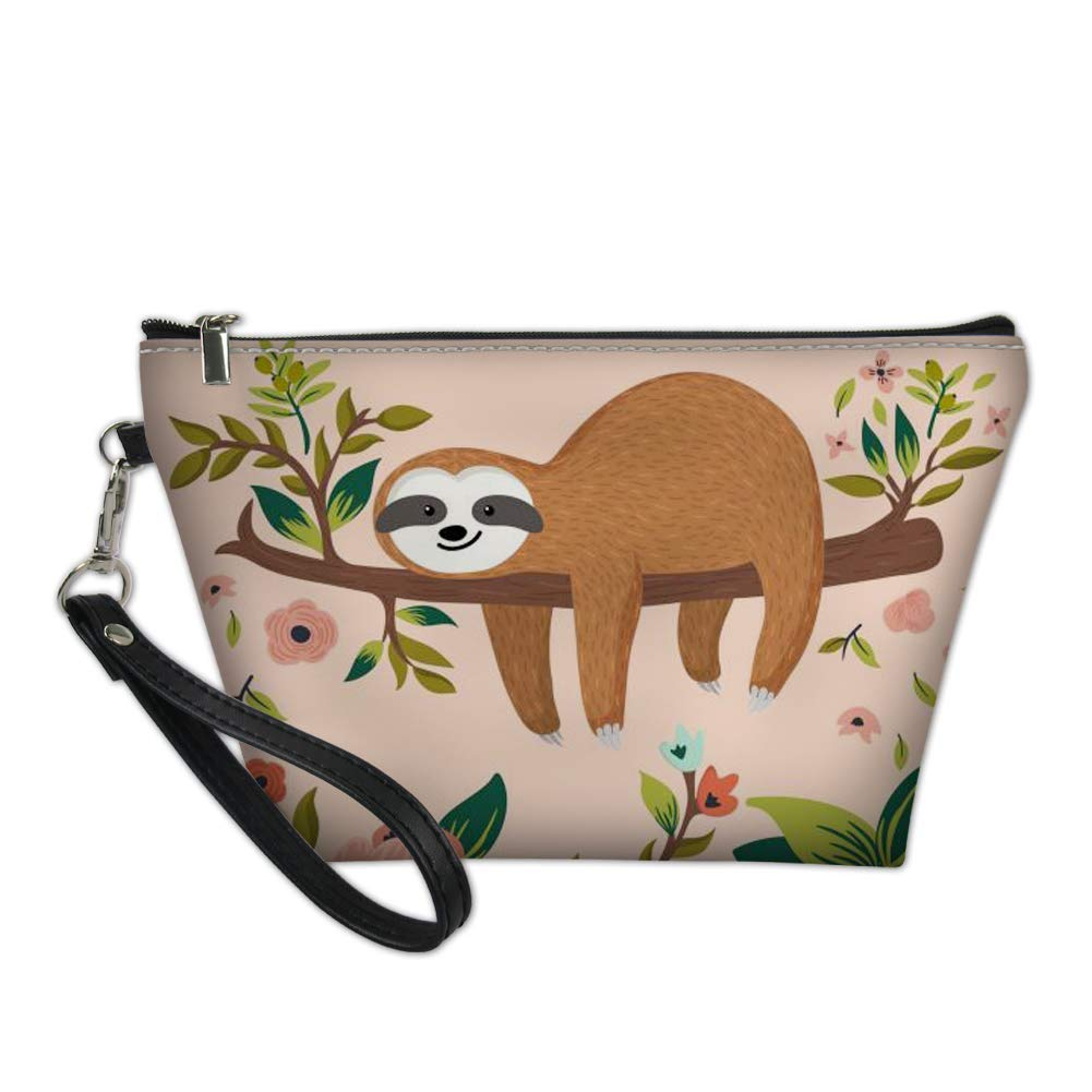 NDISTIN Adroable Sloth Makeup Bag for Travel Women Protable Kit Toiletry Bags Multifunction Waterproof Hanging Bag