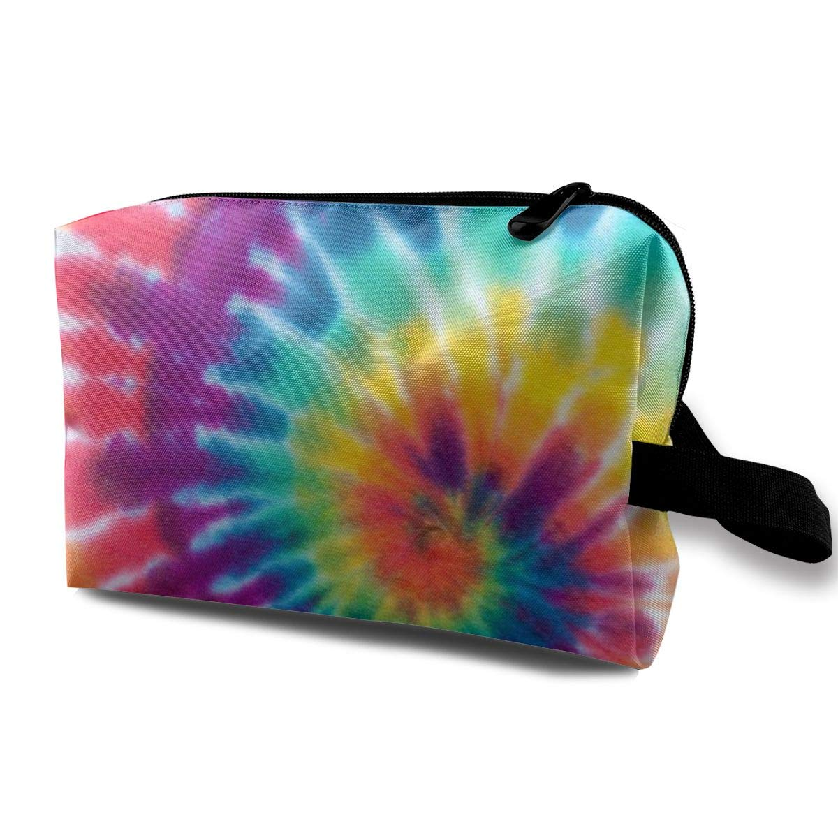 Small Cute Make up Pouch for Purse Makeup Brushes Bag Mini Travel Cosmetic Bag (Spiral Tie Dye)